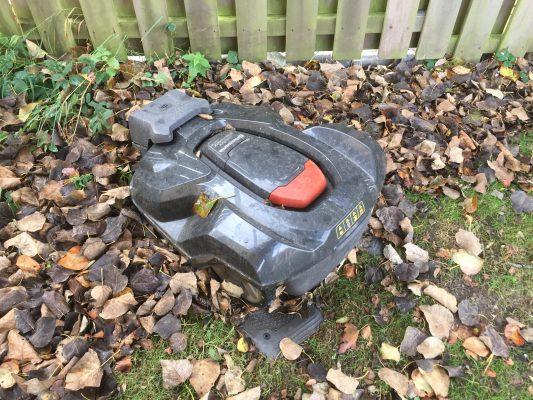 Husqvarna Automower på hösten